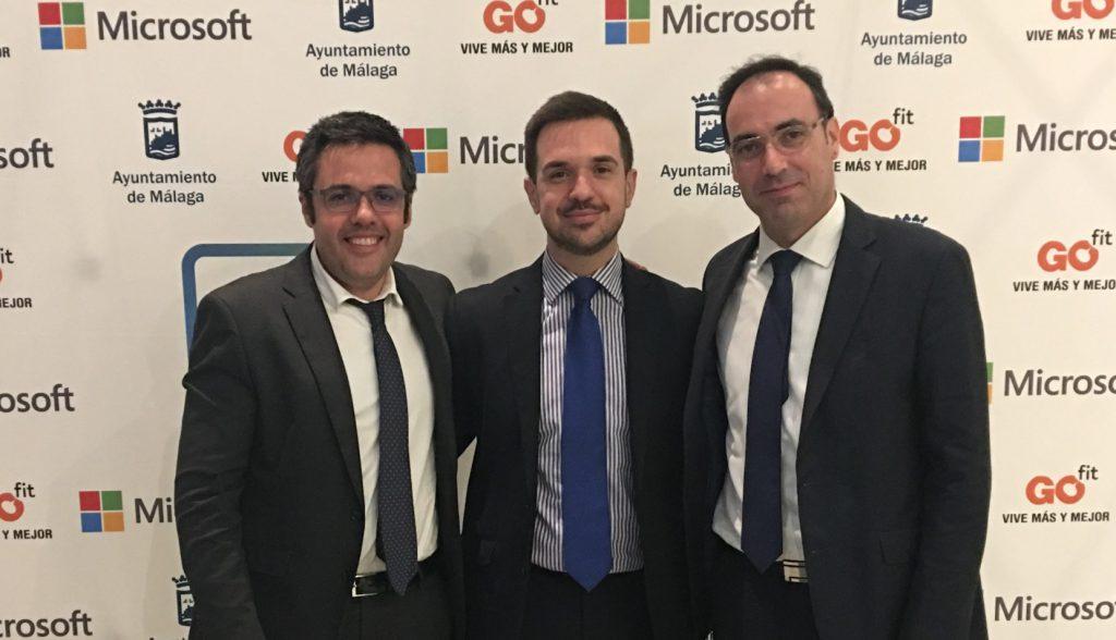Francisco Tejeira y Juan José Ramírez, Microsoft Innovative Educator Experts, junto al director de SEK Alborán, D. Luis Carlos Jiménez